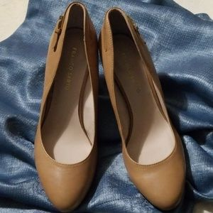 Franco Sarto Nude leather heels Size 9M